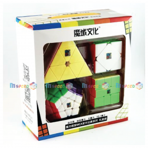 MOFANGJIAOSHI GIFT PACKING WITH 4 CUBES 1